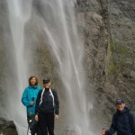 Gavarnie foot waterfall