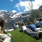Gavarnie view people
