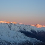 Pyrenees winter sun