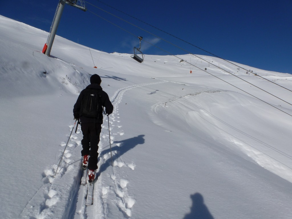 No need to wait for the stations to open when you're ski touring!