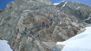 Konkordia Hut steps