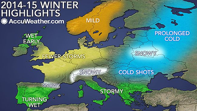 Winter forecast accuweather europe