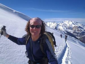 Mandy snowshoeing
