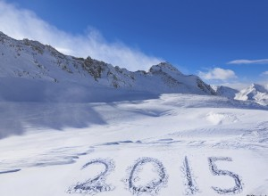 2015 on snow at mountains